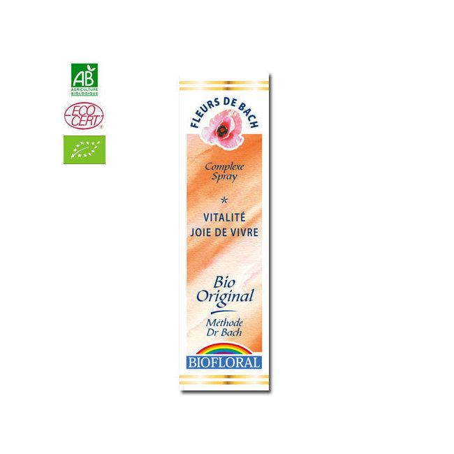 Vitalité, Joie de vivre - Complexe n°2 Fleurs de Bach bio Spray 20ml
