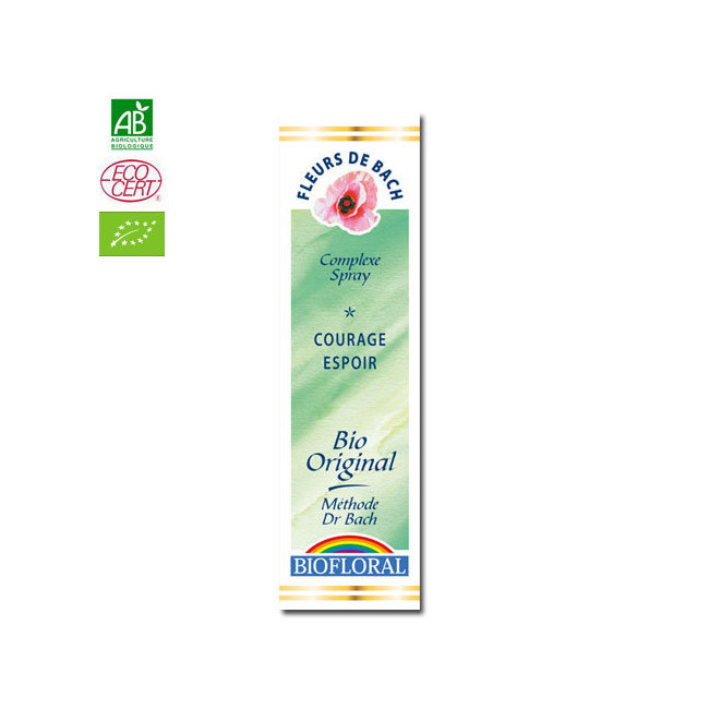 Courage Espoir - Complexe n°4 Fleurs de Bach bio Spray 20ml