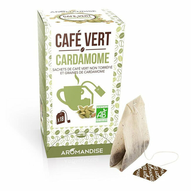 Clairenature Café vert Cardamome bio 20 sachets