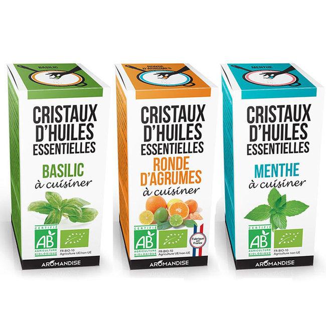 Florisens trio cristaux d 39 huiles essentielles bio pour - Huile essentielle cuisine ...