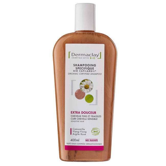 shampoing bio capilargil cheveux fragiles argile rose 400ml - Shampoing Bio Cheveux Colors