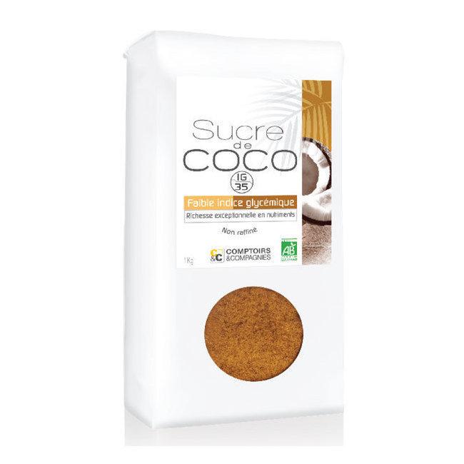 Sucre de coco bio non raffin comptoirs et compagnies 1 kg - La compagnie des comptoirs montpellier ...