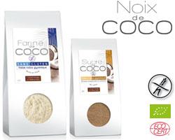 Farine de coco bio et sucre de coco - Claire Nature