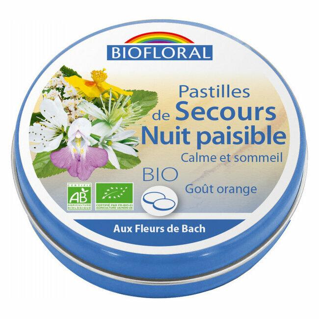Pastilles Rescue Nuit Paisible Fleurs De Bach Biofloral