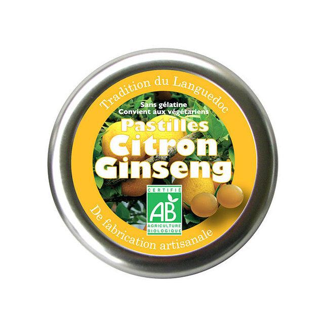 Pastilles bio Citron Ginseng 45g