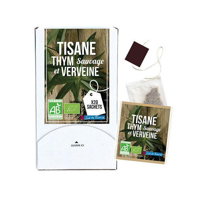 Tisane Thym sauvage et Verveine bio 20 sachets