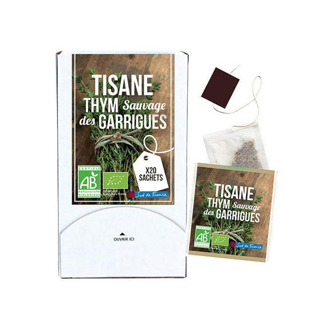 Tisane Thym sauvage bio des garrigues 20 sachets
