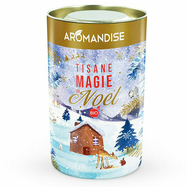 Tisane bio Magie de Noël en vrac - Boîte de 60g