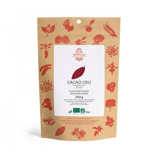Fèves de cacao cru bio 250g