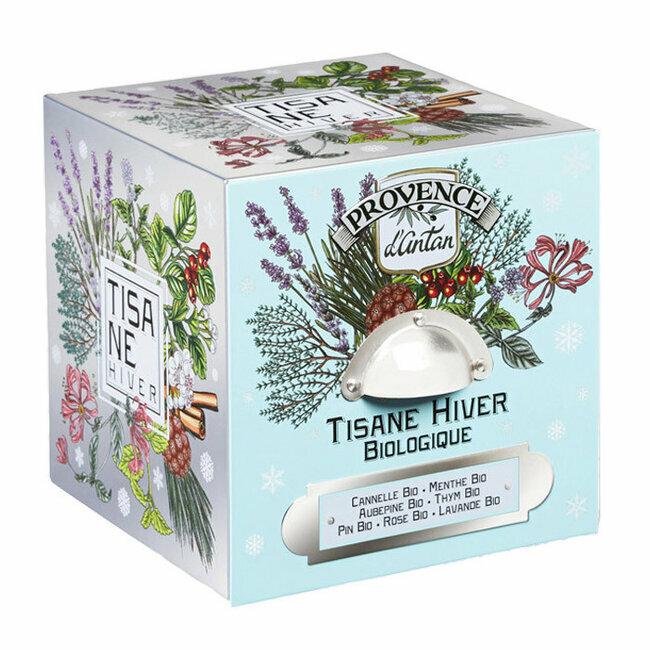 Produit bio Tisane Hiver bio - Coffret cube métal 24 infusettes