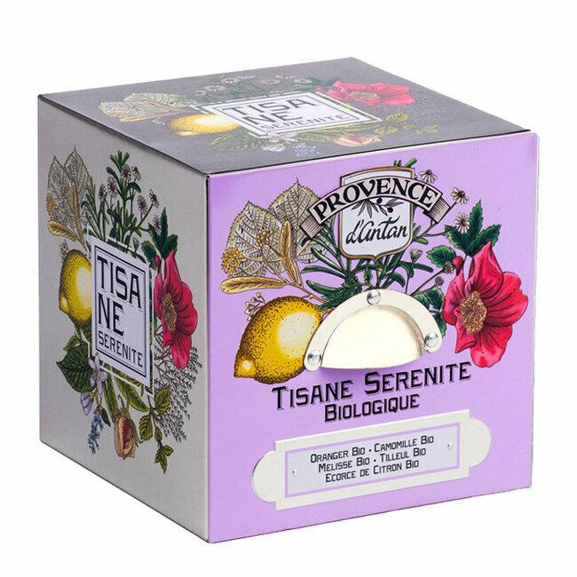 Produit bio Tisane Sérénité bio - Coffret cube métal 24 infusettes