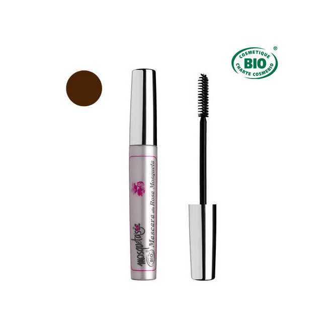 Mascara Bio Marron à la rose musquée 8ml