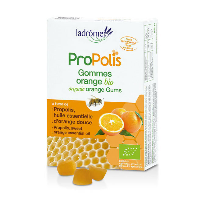 Gommes Propolis et Orange bio 45g
