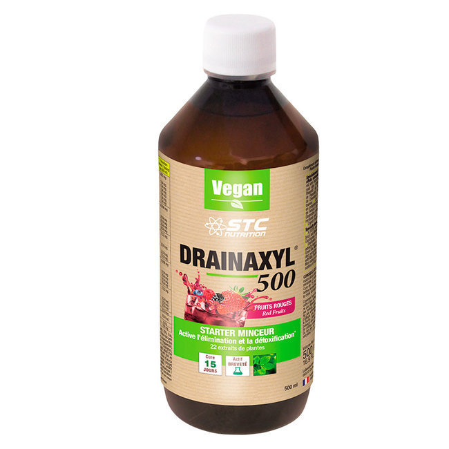 Drainaxyl 500 fruits rouges - Drainant et Détoxifiant 500ml