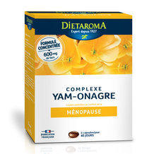 Complexe Yam Onagre - Ménopause - 80 capsules