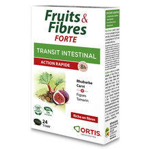 Fruits & Fibres Forte - Action rapide - 24 comprimés