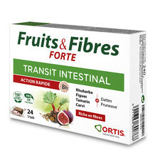Fruits & Fibres Forte - Action rapide - 24 cubes